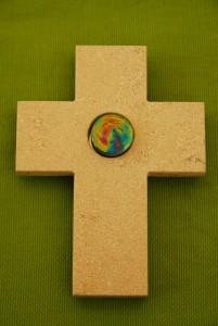 Jurakreuz 12 cm mit Glasstein